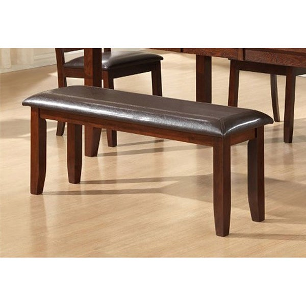 Dark Espresso Dining Bench