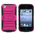 BasAcc Hot Pink/ Black Armor Stand Case for Apple iPod touch 4