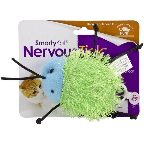 SmartyKat NervousTick Pull-String Motion Toy