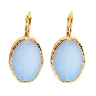 ELYA Goldplated Brass Moonstone Earrings