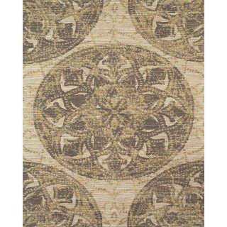Serra Medallion Brown Area Rug (5' x 8')
