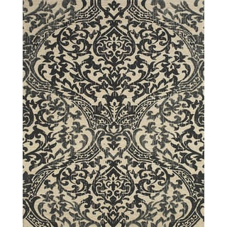 Serra Hourglass Black Area Rug (8' x 11')