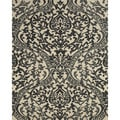 Serra Hourglass Black Area Rug (2'6 x 8')