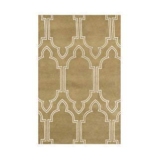 Handmade Mustard Gold New Zealand Blended Wool Area Rug (8' x 10')
