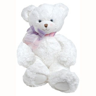 First & Main Plush Stuffed White Bear