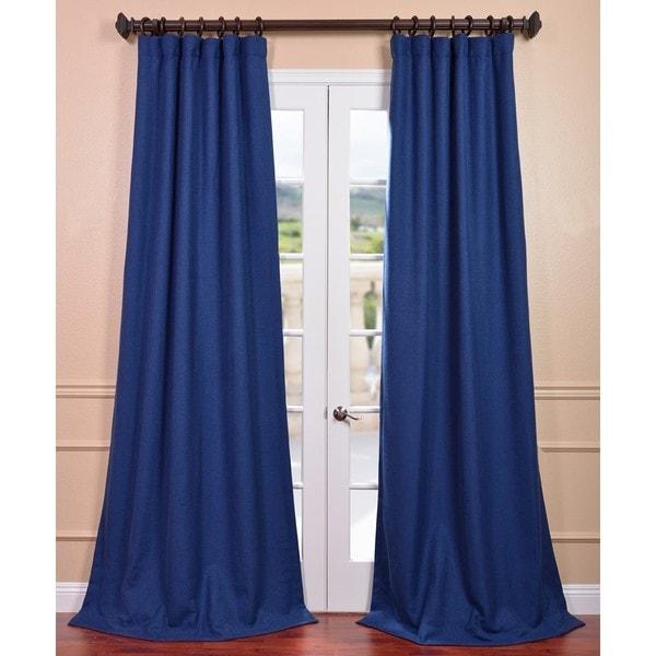 Royal Blue Linen Curtain Panel