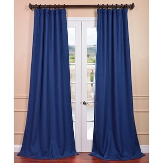 Royal Blue Linen Curtain Panel