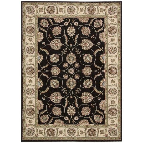 Nourison Modesto Black Area Rug (5'3 x 7'3)