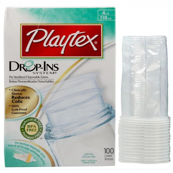 Playtex 4-ounce Drop-Ins Liners (Case of 100)