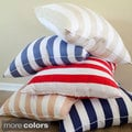 Cabana Stripe 26-inch Euro Square Pillows (Set of 2)