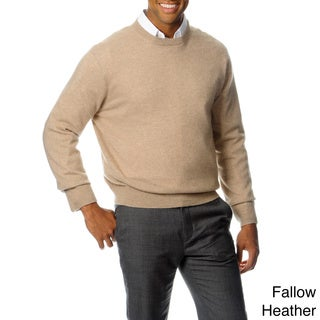 Ply Cashmere Men's Soild Long Sleeve Sweater