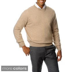 Ply Cashmere Men's Soild Long Sleeve Sweater
