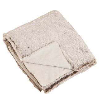 Plush Natural Faux Fur Throw