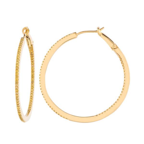 Silver hoop earrings diamonds