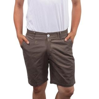 Something Strong Men's Slim Fit Olive Shorts