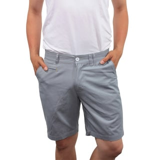 Something Strong Men's Slim Fit Light Grey Shorts
