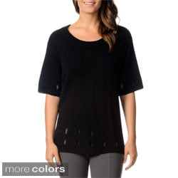 Ply Cashmere Women's Cashmere Crew Neck Sweater