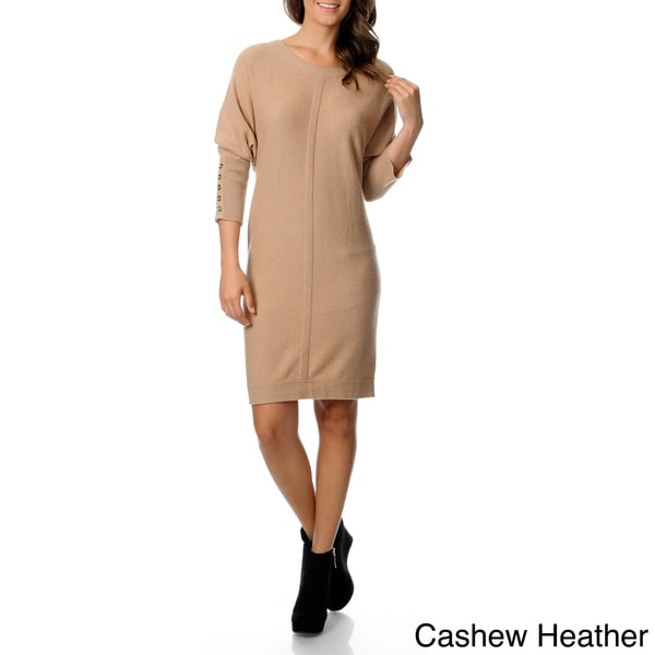 Ply Cashmere Women's Boat Neck Sweater Dress