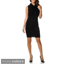 Ply Cashmere Women's Cowl Neck Sweater Dress