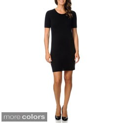 Ply Cashmere Women's Cashmere Mini Sweater Dress