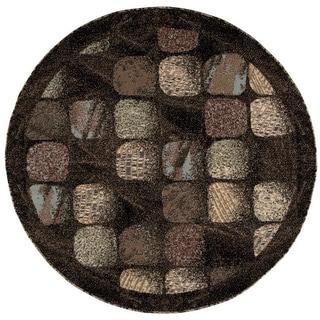 Nourison Modesto Charcoal Rug (5'3 Round)
