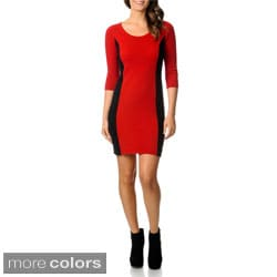 Ply Cashmere Women's Cashmere Colorblocked Sweater Dress