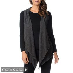 Ply Cashmere Women's Sleeveless Hooded Vest