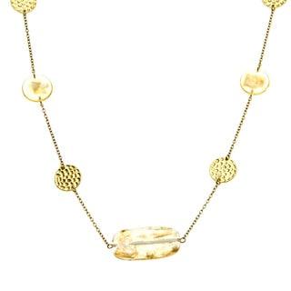 Alexa Starr Goldtone Fleck Illusion Lucite Necklace
