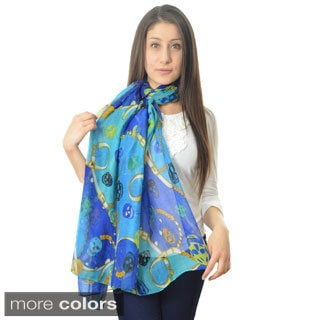 LA77 Skull and Chain Print Scarf