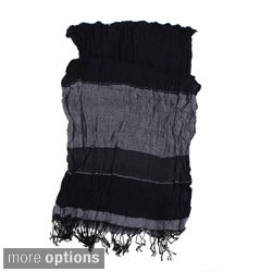 Striped Crinkled Scarf