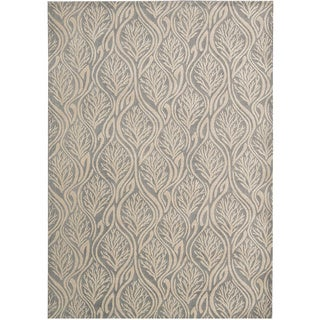 kathy ireland by Nourison Hollywood Shimmer Light Grey Rug (3'9 x 5'9)