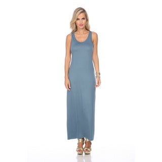 Stanzino Women's Cadet Blue Sleeveless Maxi Dress