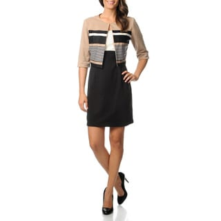 Julian Taylor Women's Colorblocked Ponte Jacket and Dress Set