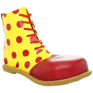 Funtasma Child's Red and Yellow Clown Shoes (One size)