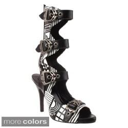 Demonia Women's 'Zombie-106UV' Mechanical Buckle Shaft Boots
