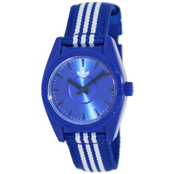 Adidas Women's 'Mini Santiago' Blue/ White Watch