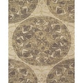 Serra Medallion Brown Area Rug (8' x 11')
