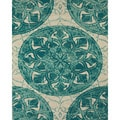 Serra Medallion Teal Area Rug (5' x 8')