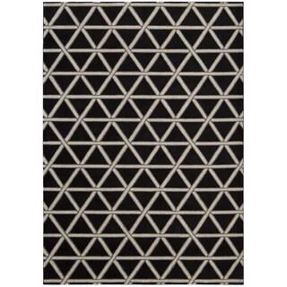 kathy ireland by Nourison Hollywood Shimmer Onyx Rug (5'3 x 7'5)