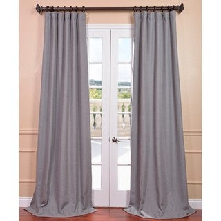 Light Grey Linen Curtain Panel