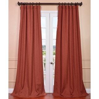 Rust Linen Weave Curtain Panel