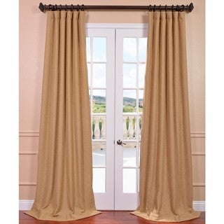 Farro Gold Heavy Faux Linen Curtain Panel