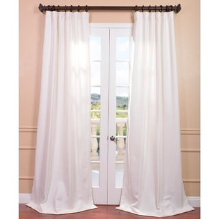 Mineral White Heavy Faux Linen Curtain Panel