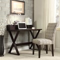 INSPIRE Q Finsbury X-base Espresso Writing Desk and Hutch