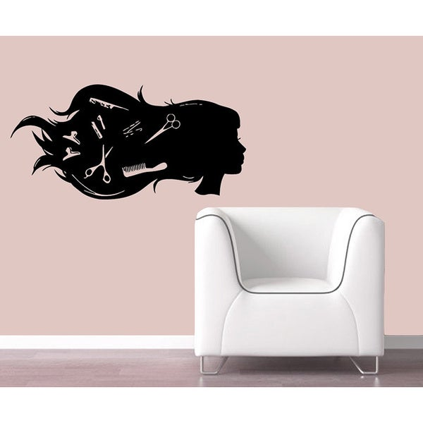 'Hairdressing Salon' Vinyl Decal Wall Art Mural