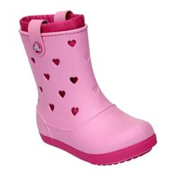 Girls' Crocs Crocband Airy Hearts Boot PS Carnation/Fuchsia