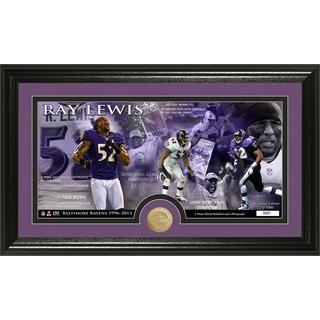 Baltimore Ravens Ray Lewis Bronze Coin Panoramic Photo Mint