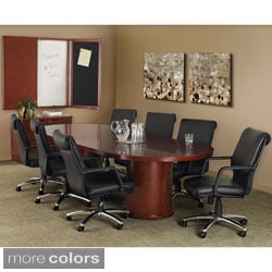Mayline Mira 8-foot Veneer Racetrack Conference Table