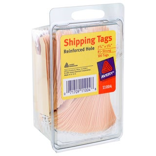 Avery Reinforced Hole #1 Strung Manilla Shipping Tags (Pack of 100)