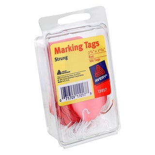 Avery Red Strung Marking Tags (Pack of 100)